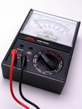 volt meter with cables poster