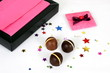 chocolates with pink box