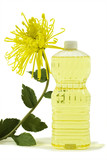 pure vegetable oil with flower poster