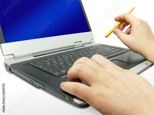 silver laptop and hands