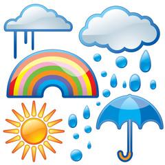 shiny weather icons