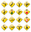 shiny us road sign icons