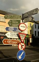 panneaux routiers en irlande