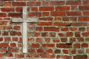 cross on church wall