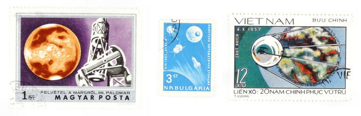 space and astronautic postage stamps