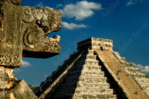 pyramid at chichen itza - 2050188