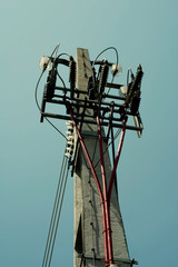 power-line pole