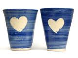 blue love mugs poster