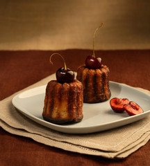 two cherry cakes