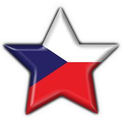 bottone stella ceca  - czech star button flag