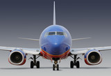 southwest airlines airplane with clipping path poster