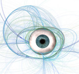 eye contact abstract poster