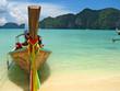 thai boat and beach