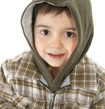 boy with hooded jacket poster