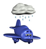 sad emoticon plane poster