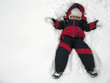 boy fall to snowbank