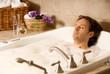 Leinwanddruck Bild - man in a bath