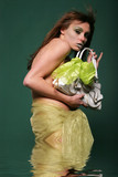 sexy woman holding a handbag poster