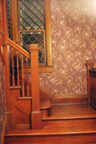 wood staircase poster