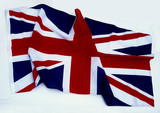 union flag on a white background poster