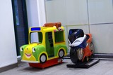 minature models for children to ride.car.motorcycl poster