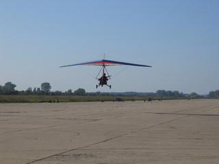 hang-glider landing