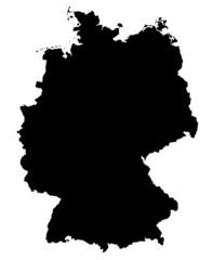 germany map black
