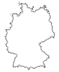 germany map, soft outline