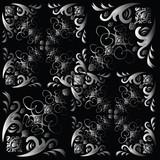 flower tile multi small gradient poster