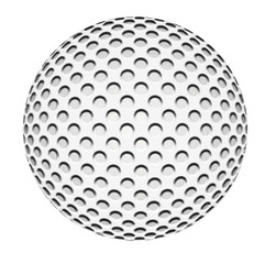 golf ball on white