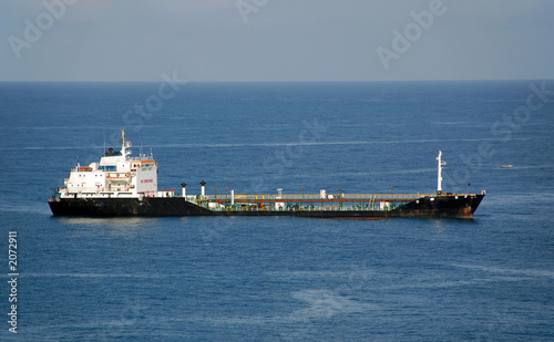 freight ship carrying fuel poster