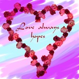 love always hopes poster