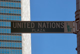 united nations plaza, manhattan, nyc poster