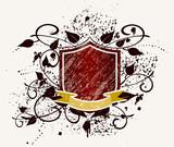 grunge crest - illustration poster