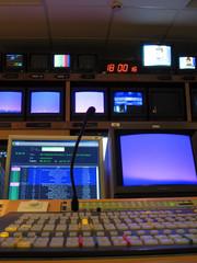 régie tv contre-plongée