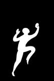 running/jumping poster