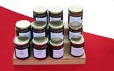 jars of plum, summer fruits,& cidered apple butter poster