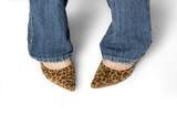 leopard skin shoes poster