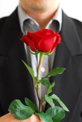 man red rose