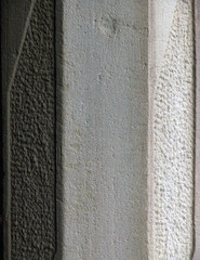 detail carved cement column