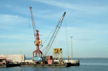 cranes on port