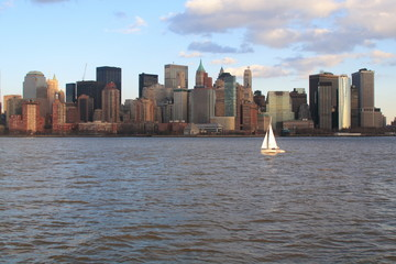 sailing past downtown