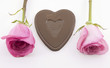 chocolate heart rose