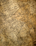fragment of ancient map poster