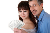 happy family with money poster
