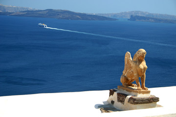sculpture with a seaview