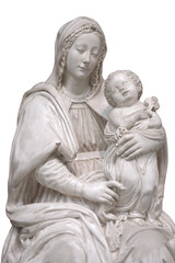 jeasus and mary statues