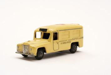 scale model toy ambulance