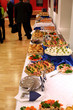 buffet with snacks at presentation #1