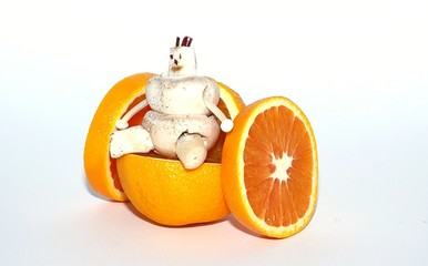 orange wheelchair